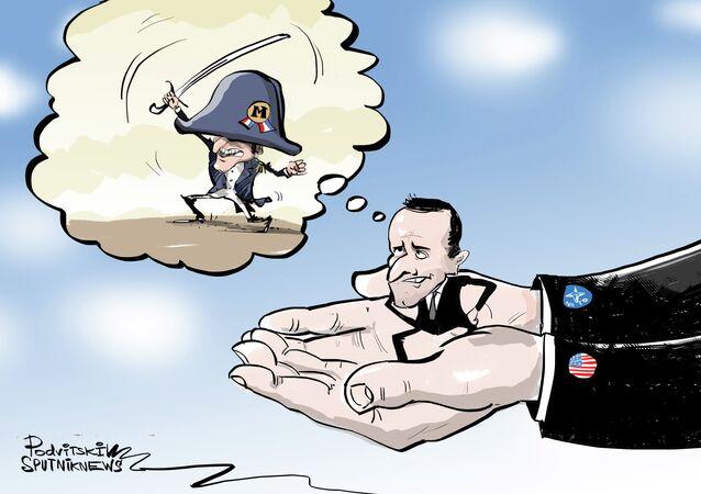 Macron sní o panevropské armádě