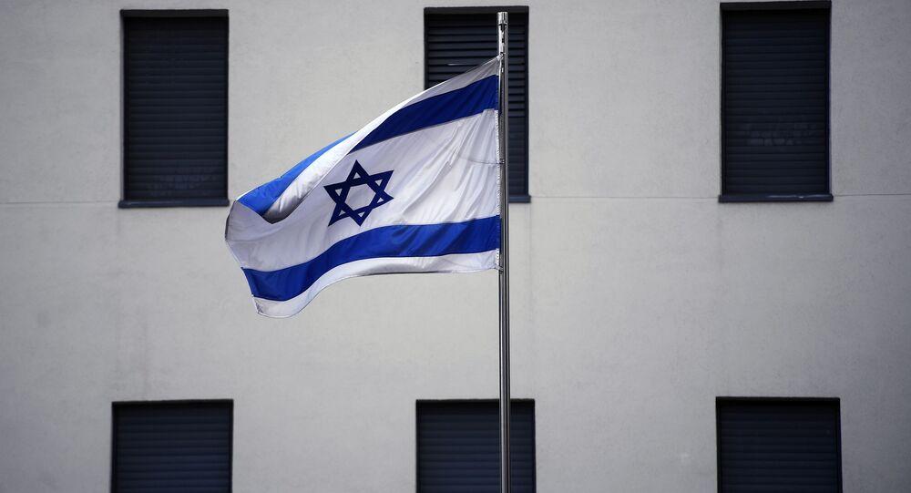 Izraelská vlajka v Moskvě