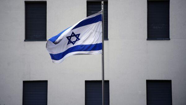 Izraelská vlajka v Moskvě - Sputnik Česká republika