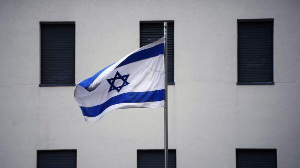 Izraelská vlajka na velvyslanectví v Moskvě - Sputnik Česká republika