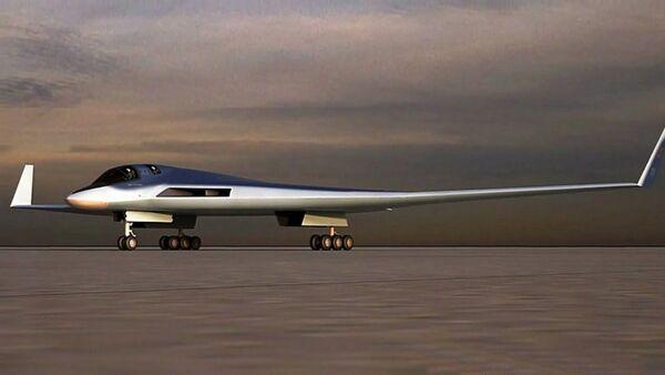 Náčrt perspektivního leteckého systému pro dálkové letectvo (PAK DA) - Sputnik Česká republika