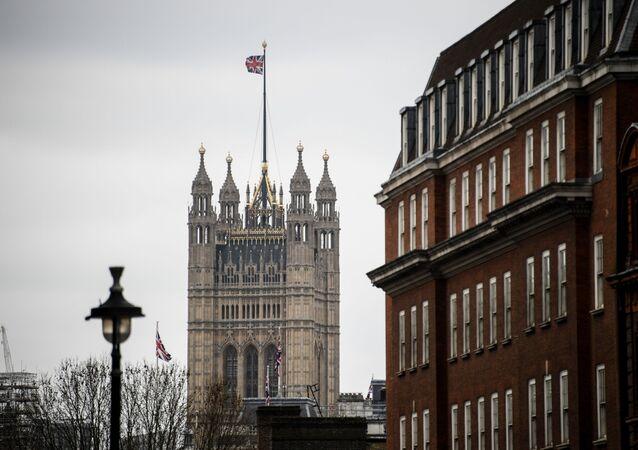 Victoria Tower Westminsterského paláce v Londýně