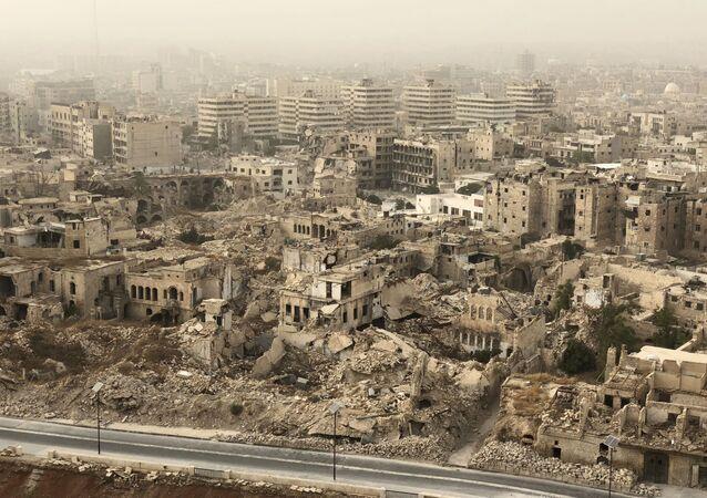Zničené Aleppo. Ilustrační foto