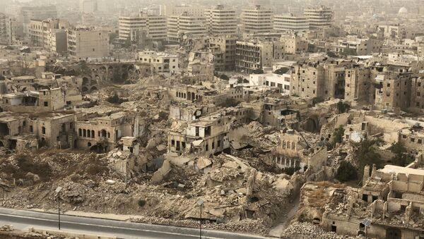 Zničené Aleppo. Ilustrační foto - Sputnik Česká republika