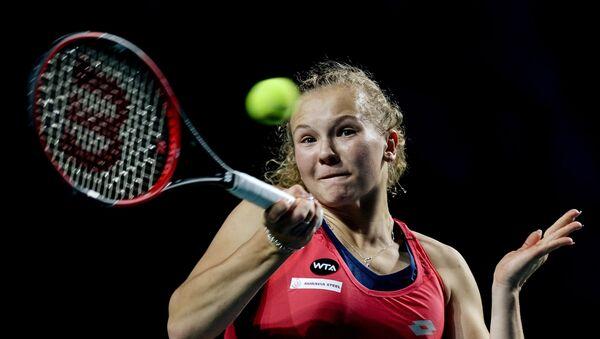 Tenistka Kateřina Siniaková na turnaji v Moskvě. 2015 - Sputnik Česká republika