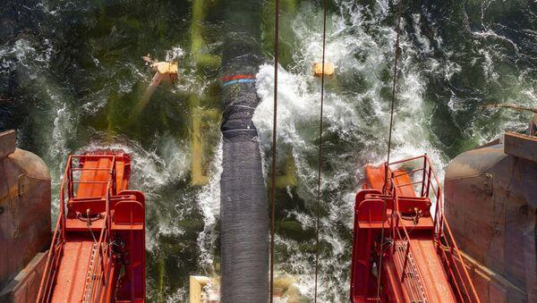 Pokládka plynovodu Severní proud 2 ve Finském zálivu - Sputnik Česká republika