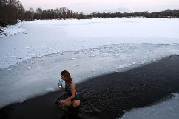 První mrazy v ruském Novosibirsku - Sputnik Česká republika