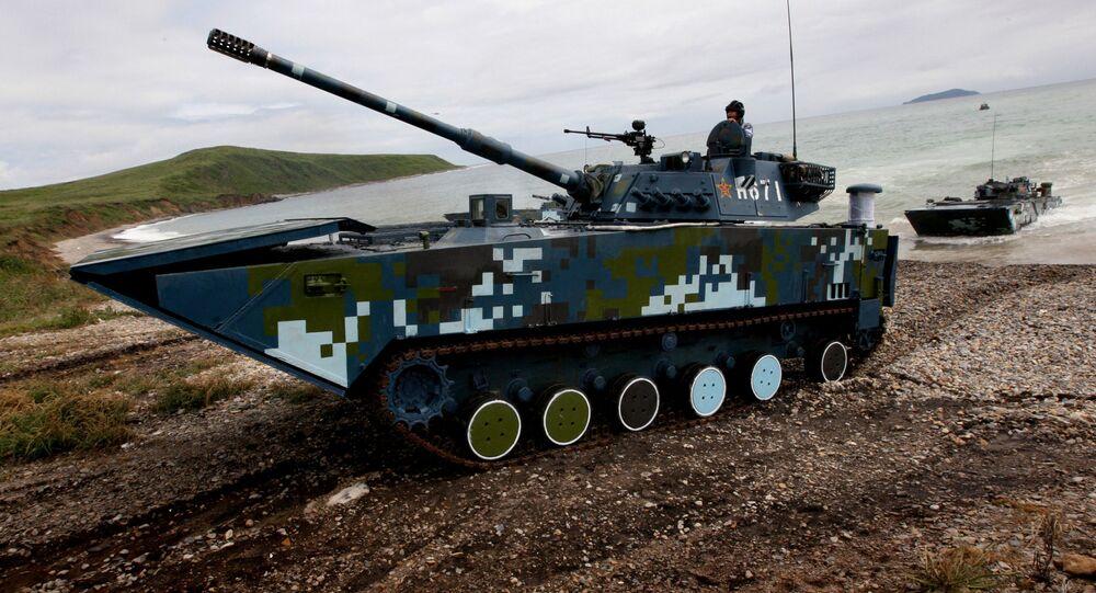 Čínské bojové vozidlo, které bylo předvedeno na výstavě Airshow China 2018