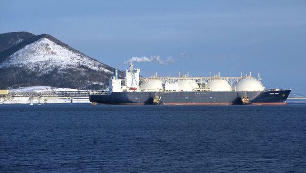 Ruský tanker s plynem Grand Aniva. Ilustrační foto - Sputnik Česká republika