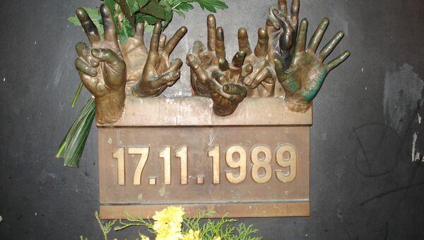 Pamětní deska 17. listopadu 1989 - Sputnik Česká republika