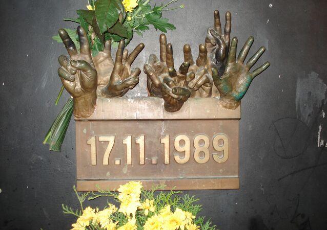Pamětní deska 17. listopadu 1989