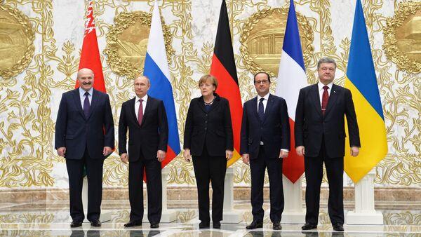 Jednání normandské čtyřky v Minsku - Sputnik Česká republika