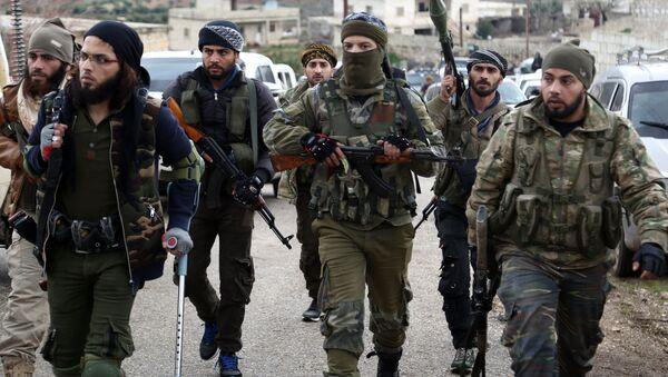 Tureckem podporovaní syrští povstalci na severu Afrínu - Sputnik Česká republika