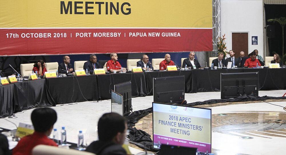 Schůzka ministrů financí během summitu APEC 2018