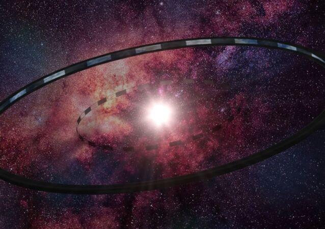 Kosmické konstrukce v představení umělce