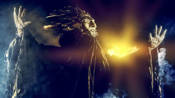 Šaman během rituálu. Ilustrační foto - Sputnik Česká republika