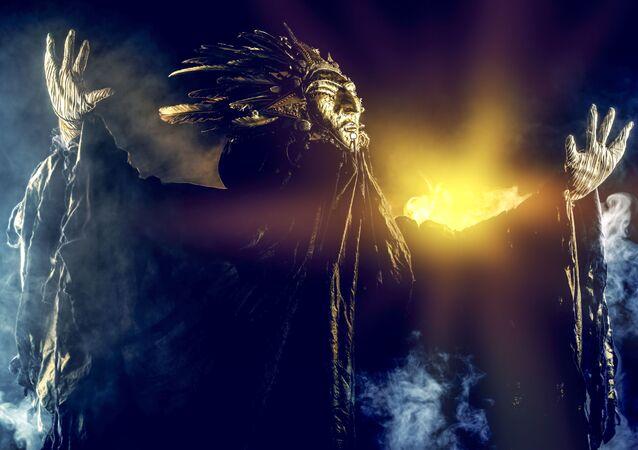 Šaman během rituálu. Ilustrační foto