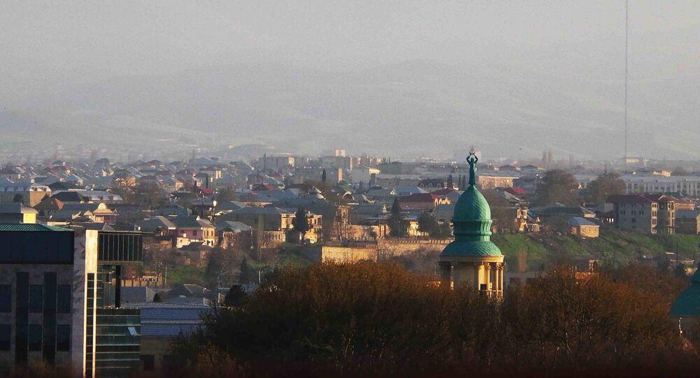 Výhled na město Gjandža, Ázerbájdžán