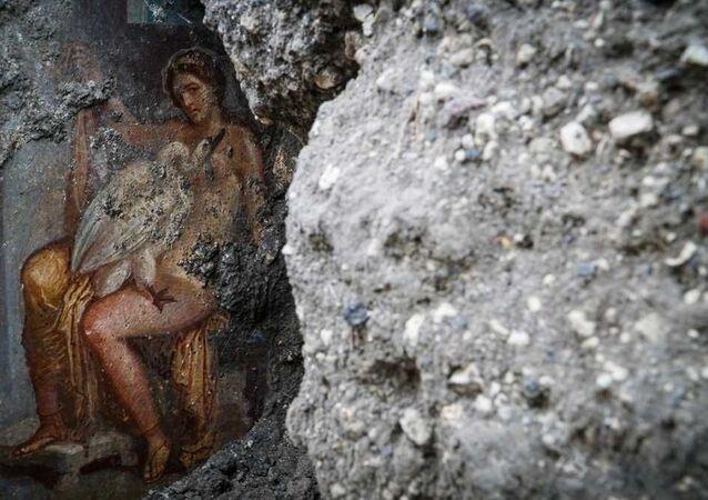 Freska v Pompejích
