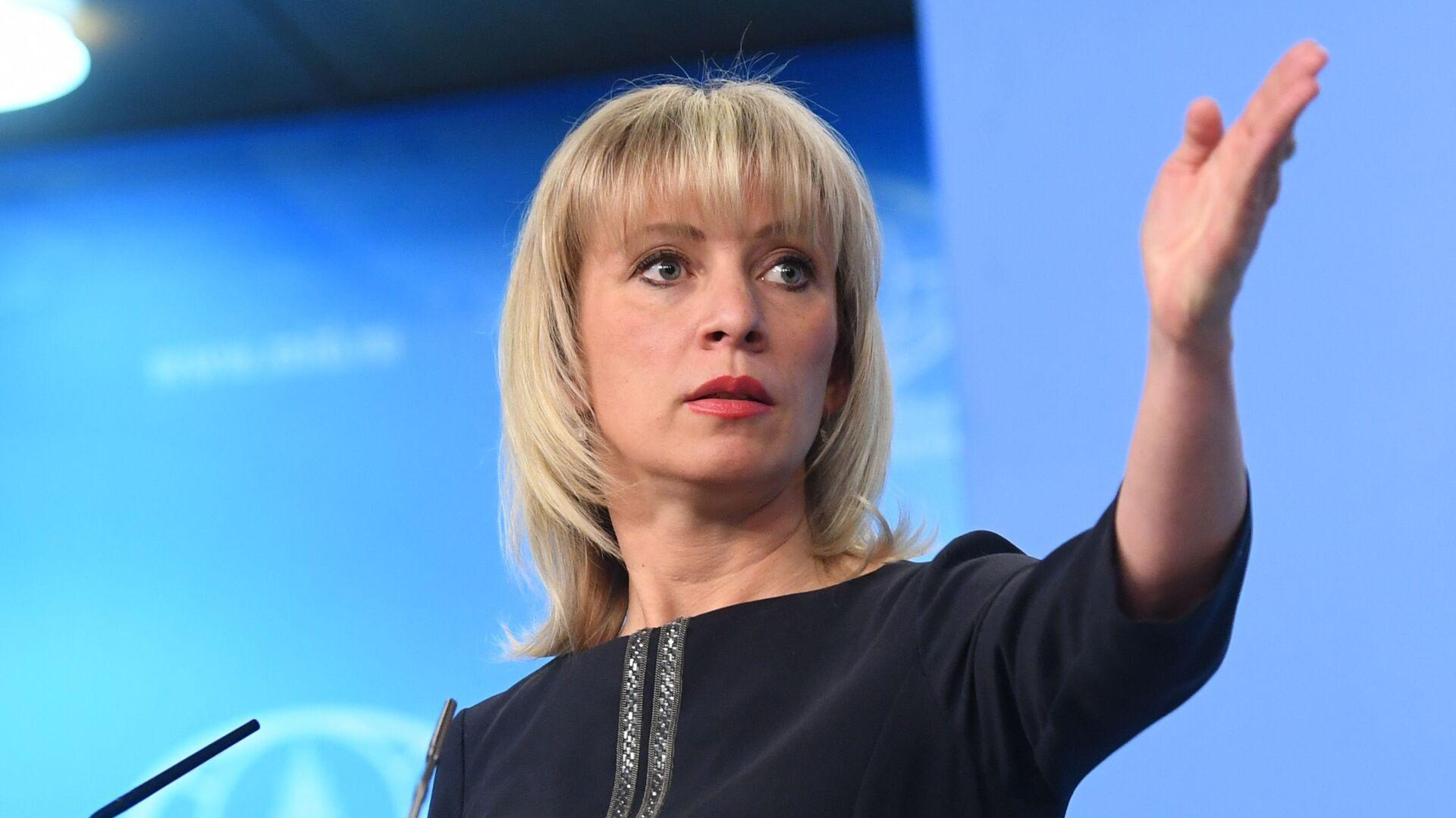 Oficiální mluvčí Ministerstva zahraničních věcí Ruské federace Maria Zacharovová  - Sputnik Česká republika, 1920, 02.06.2021