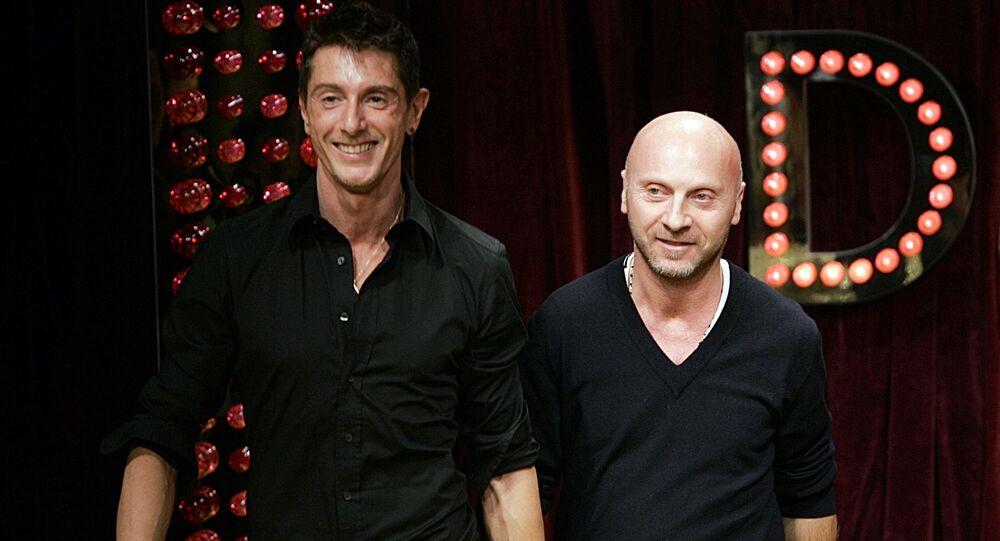 Italští návrháři Domenico Dolce a Stefano Gabbana