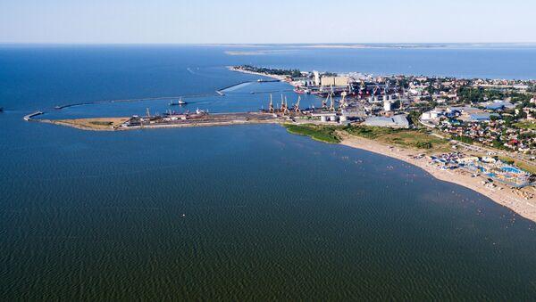 Námořní obchodní přístav na Yeysk rožni. Azovské moře. - Sputnik Česká republika