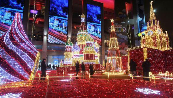 Novoroční ozdoba v Moskvě - Sputnik Česká republika