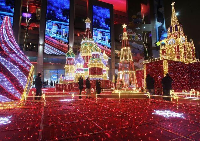 Novoroční ozdoba v Moskvě