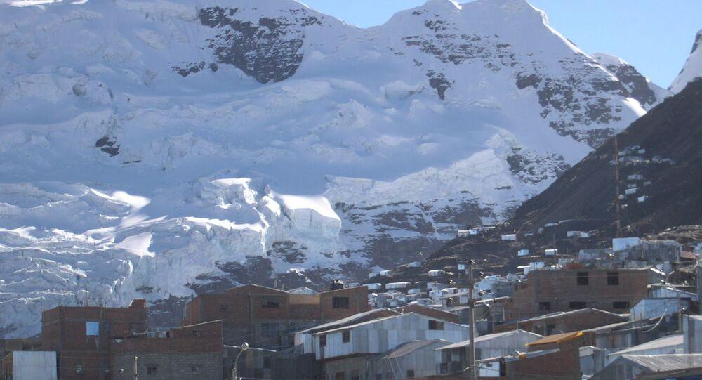 Město La Rinconada v Peru