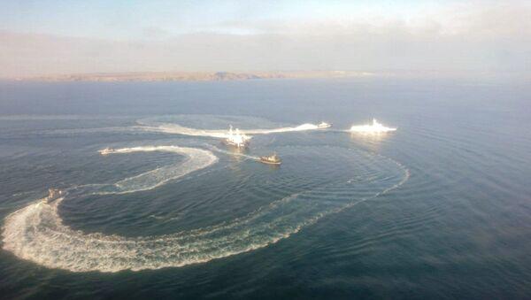 Tři lodě ukrajinského námořnictva překročily ruské hranice - Sputnik Česká republika