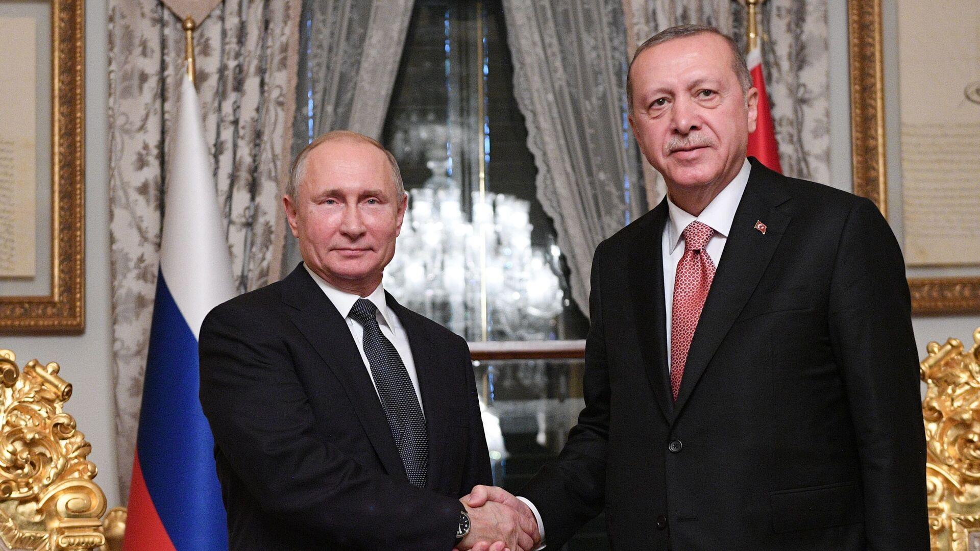 Prezident Ruska Vladimir Putin a prezident Turecka Tayyip Erdogan - Sputnik Česká republika, 1920, 12.05.2021