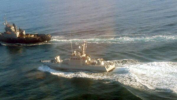Tři lodě ukrajinského námořnictva překročily hranice Ruska - Sputnik Česká republika
