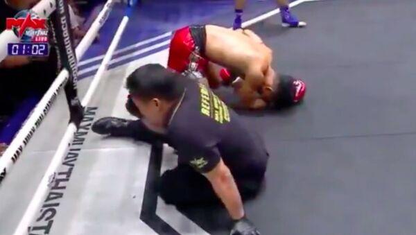 Knock out rozhodčího při boxu v Thajsku - Sputnik Česká republika
