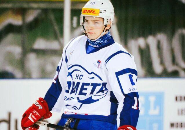 Slovenský hokejista Kristián Lunter