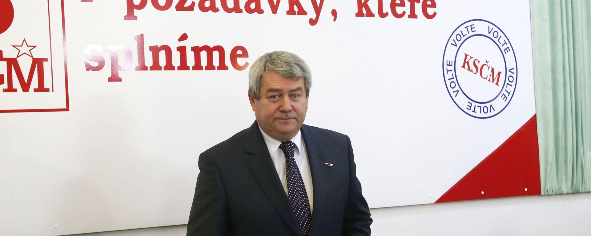 Předseda Komunistické strany Čech a Moravy Vojtěch Filip - Sputnik Česká republika, 1920, 06.09.2021
