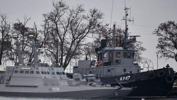 Ukrajinské lodě v Kerči - Sputnik Česká republika