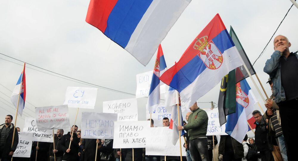 Protest. Kosovo