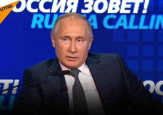 Putin: Nechceme odejít od dolarů, dolar odejde od nás.