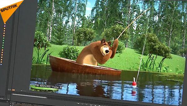 Screenshot z animáku Máša a Medvěd - Sputnik Česká republika