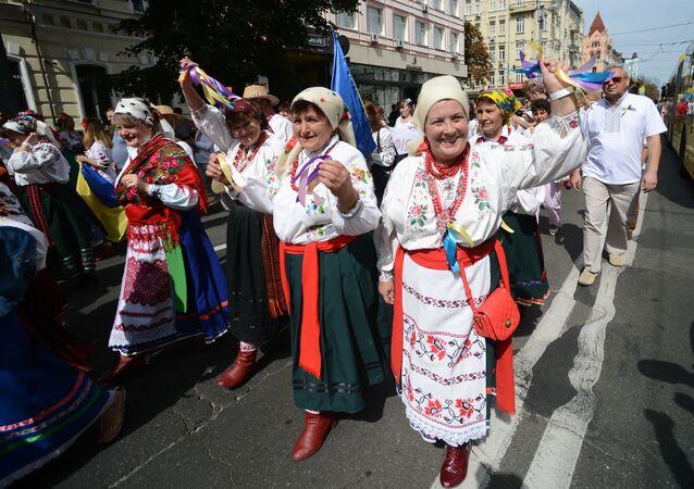 Ukrajinci v národních kostýmech