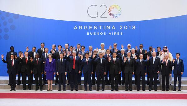 Účastníci summitu v Argentině - Sputnik Česká republika