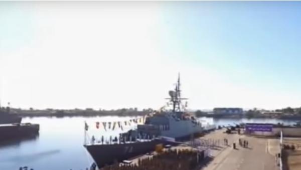 """Írán spustil na vodu nový """"neviditelný"""" torpédoborec. Má chránit tankery (VIDEO) - Sputnik Česká republika"""