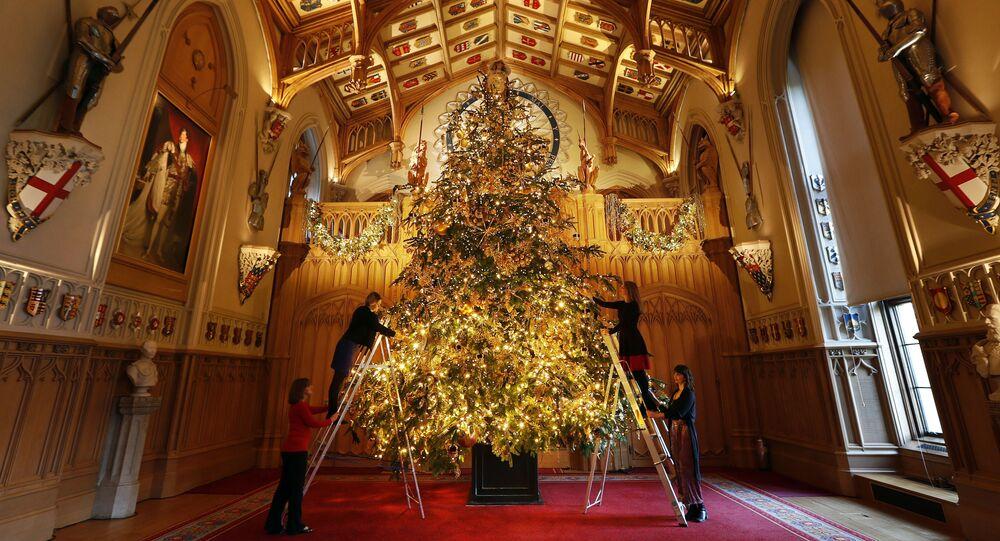 Vánoční stromeček Královny Alžběty II, Hrad Windsor 2018