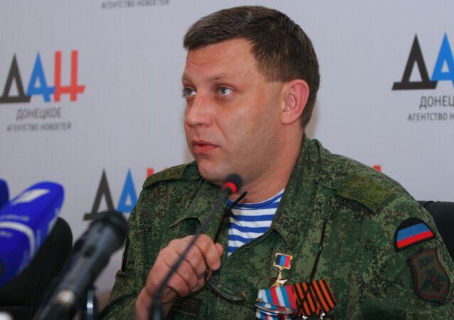 Hlava Doněcké lidové republiky Alexander Zacharčenko