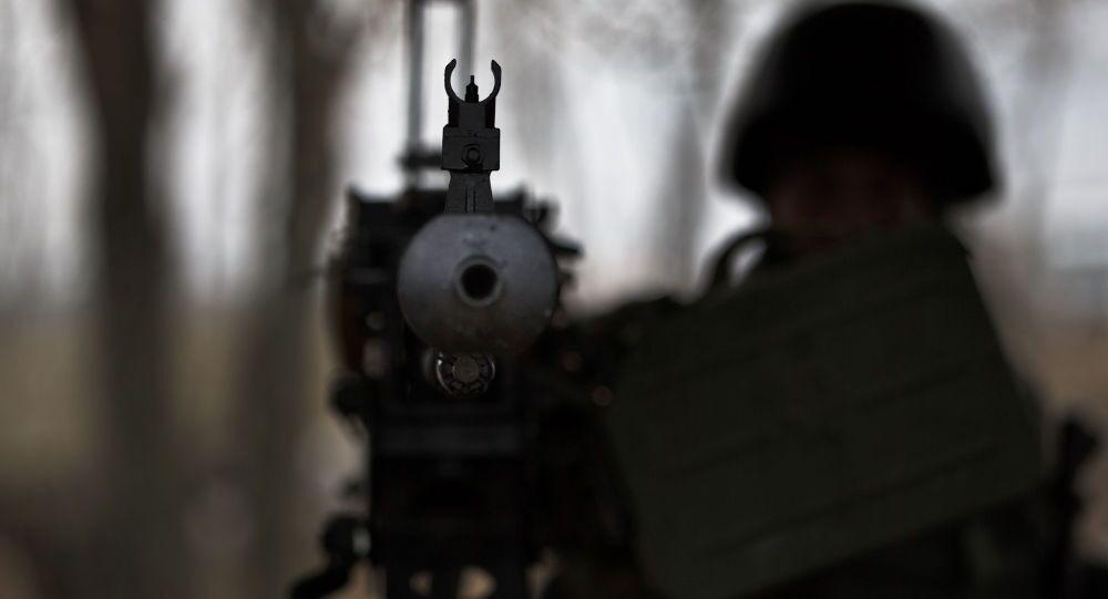 Voják nedaleko Charkova