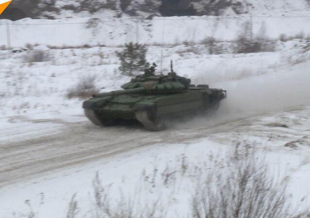 Tankový závod při -20 °C