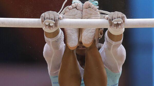 Americký gymnastka Simone Bilesová - Sputnik Česká republika