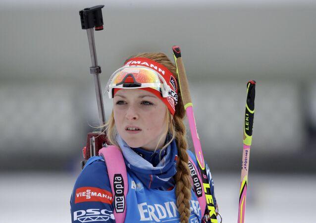 Česká biatlonistka Markéta Davidová v Německu, 2017