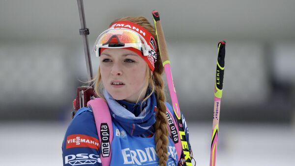 Česká biatlonistka Markéta Davidová v Německu, 2017 - Sputnik Česká republika