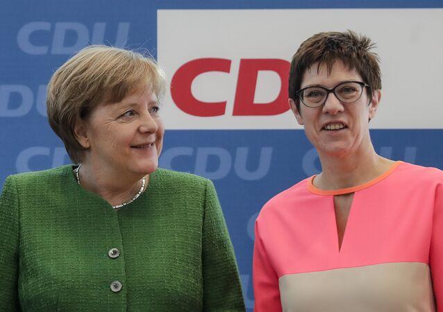 Nová předsedkyně CDU Annegret Kramp-Karrenbauer
